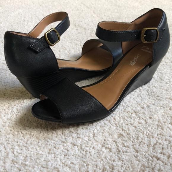 7731aea8fa4 Clarks Shoes - Clarks Flores Raye Wedge Sandal